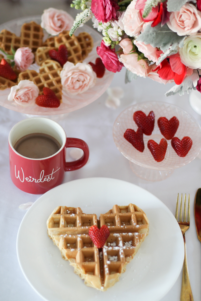 Heart Themed Breakfast Idea For Valentine's Day