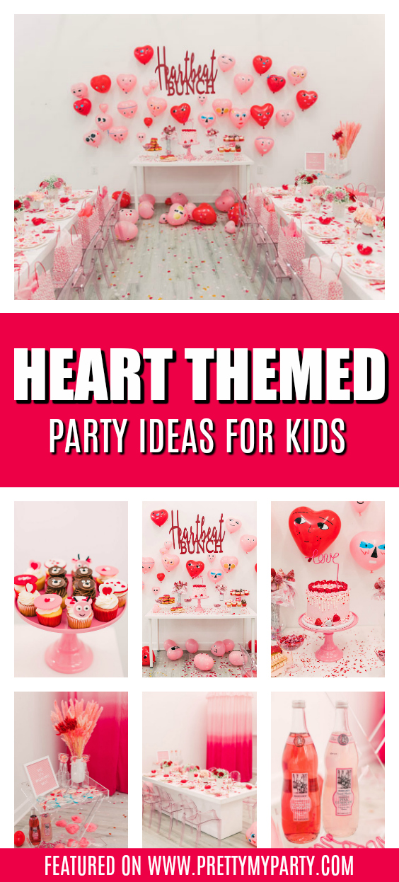 Heartbeat Bunch Valentine's Day Party on Pretty My Party