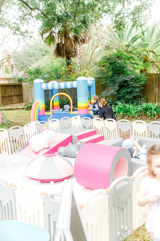 Bounce House and Kids Play Area