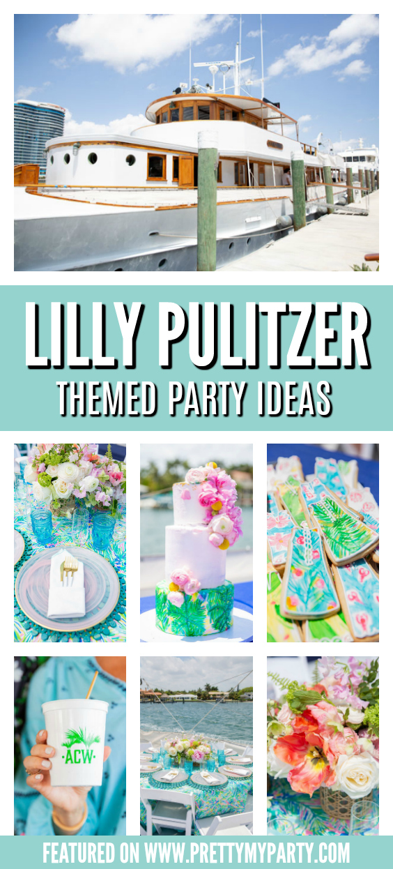 Lilly Pulitzer Themed Party Ideas on Pretty My Party