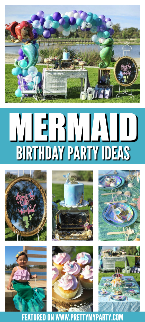 Mermaid Themed 2nd Birthday Party on Pretty My Party