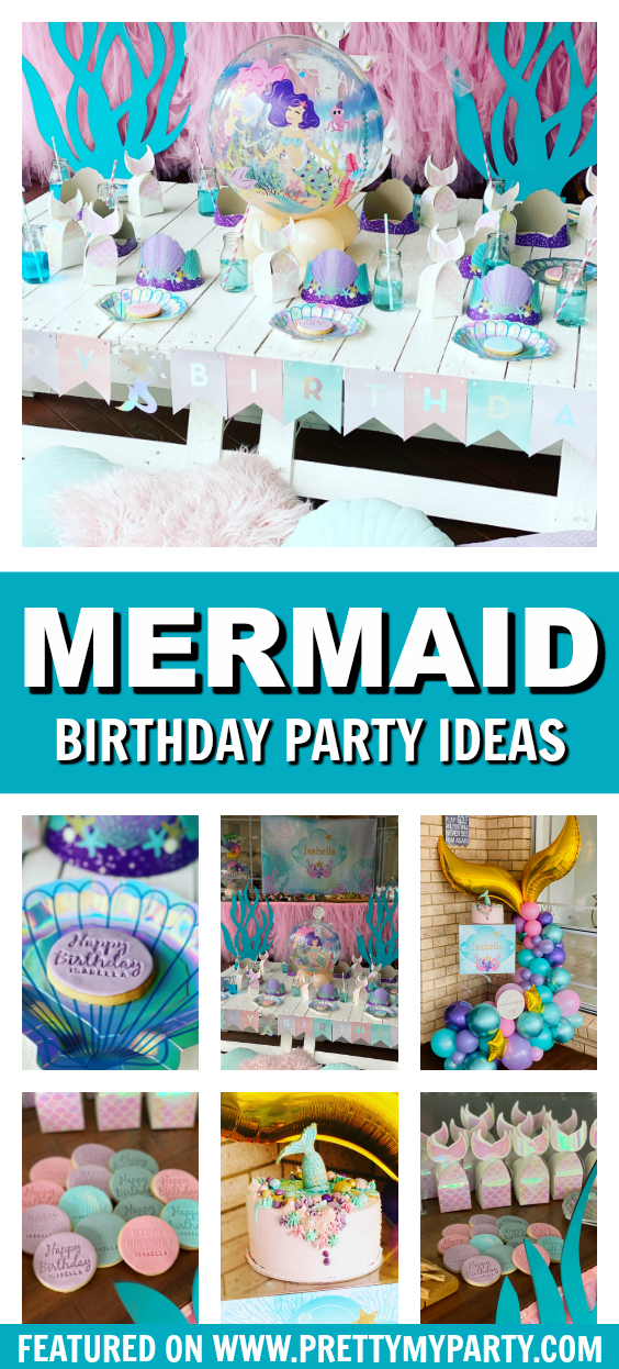 Mermaid Party Ideas on Pretty My Party