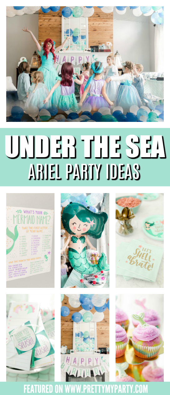 Ariel Under the Sea Birthday Party on Pretty My Party