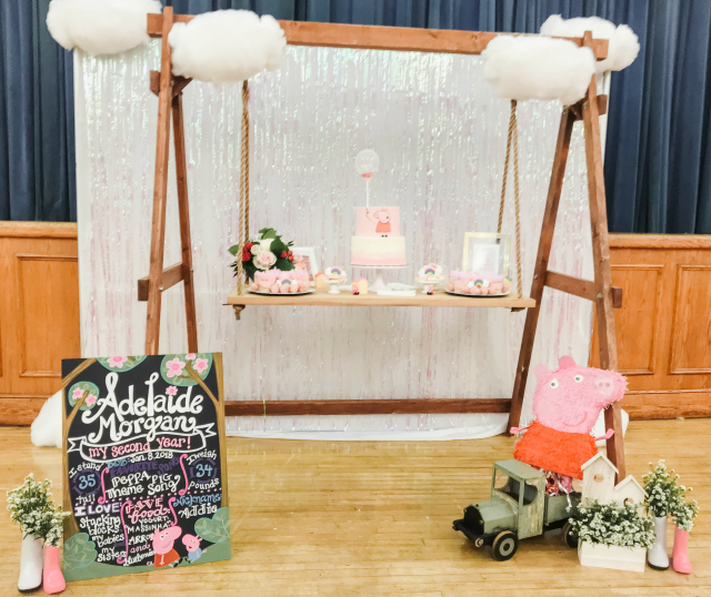 Peppa Pig Party Dessert Table