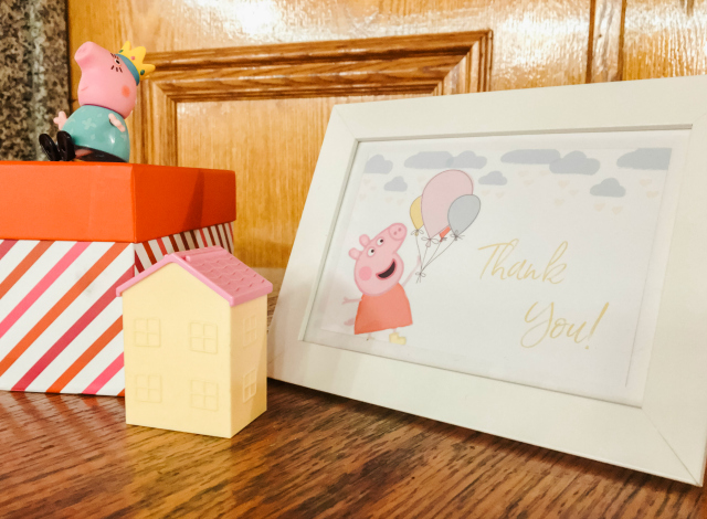 Peppa Pig Thank You Sign