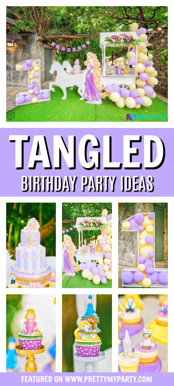 Tangled Themed Birthday Party on Pretty My Party