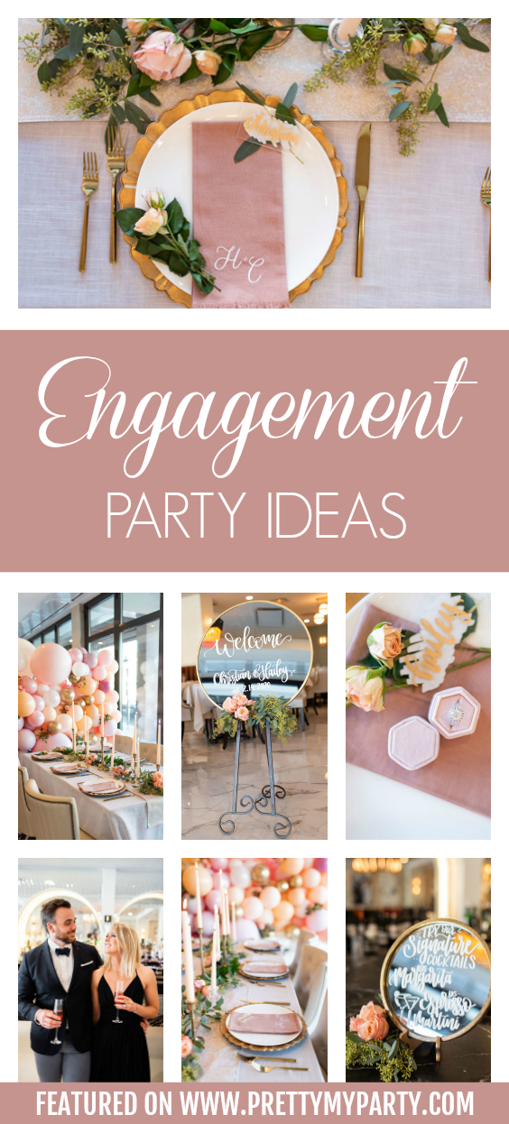 Valentine's Day Engagement Party on Pretty My Party
