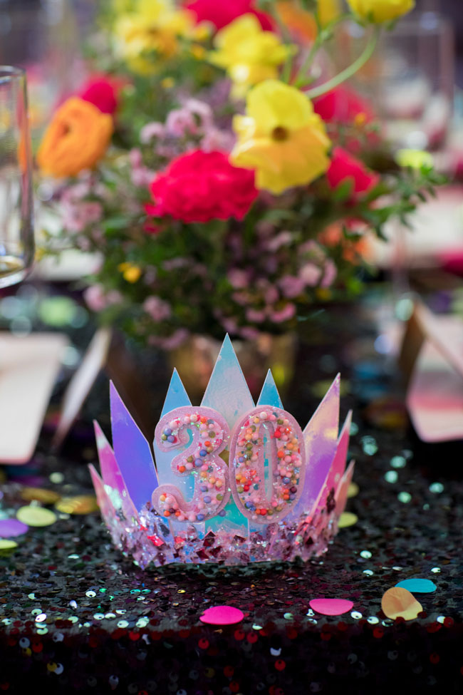 Flirty Thirty Themed Birthday Party Crown