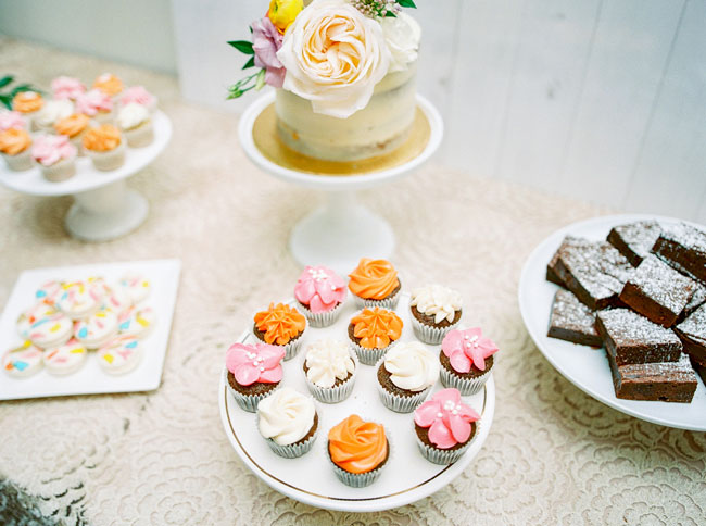 Bright Modern Bridal Shower Desserts