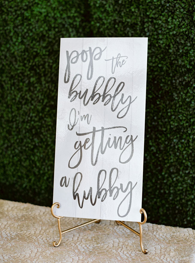 Bright Modern Bridal Shower Sign