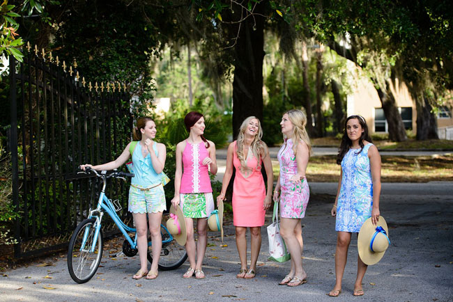 Lilly Pulitzer Inspired Bridesmaid Luncheon Dresses