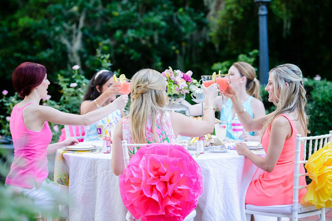 Lilly Pulitzer Inspired Bridesmaid Luncheon