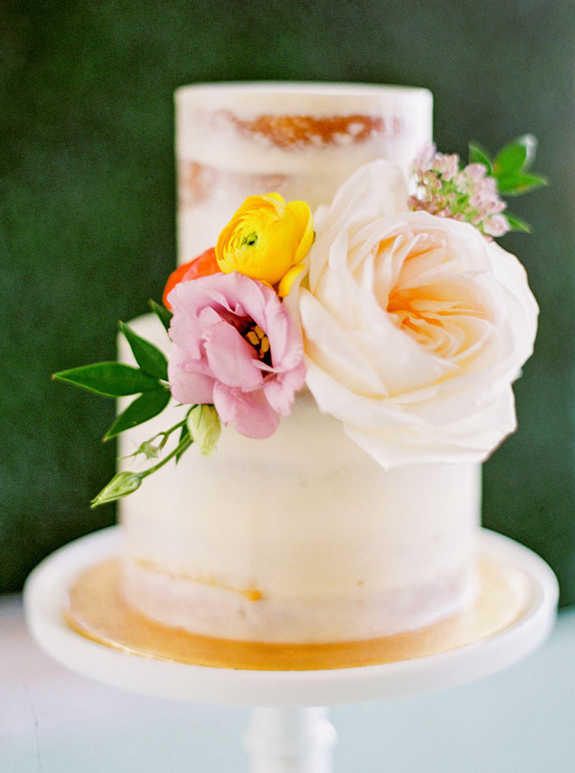 Bright Modern Bridal Shower Cake