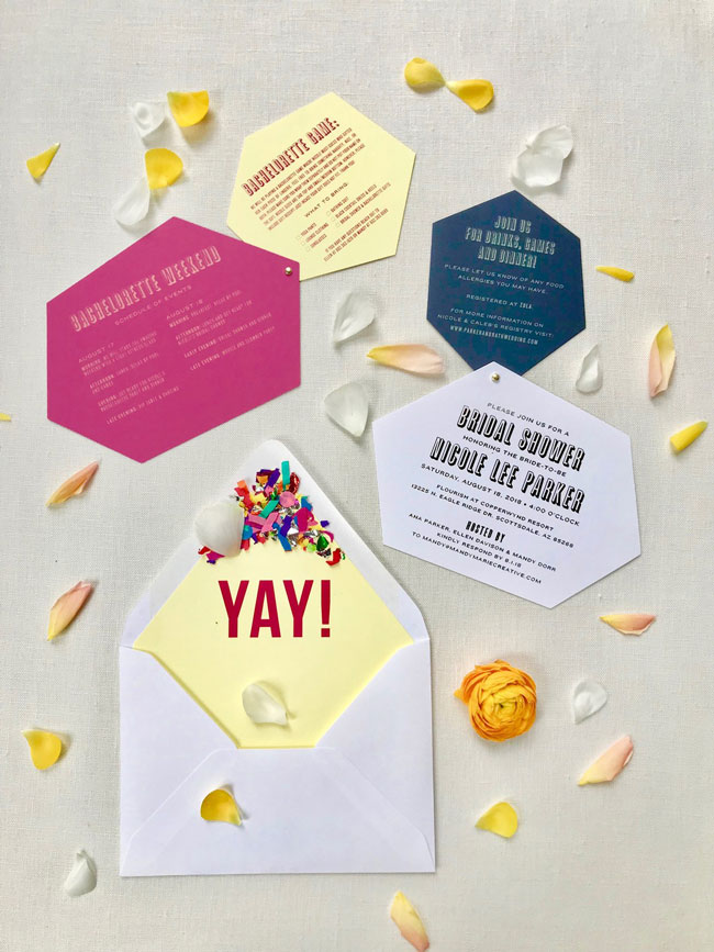Bright Modern Bridal Shower Invitation