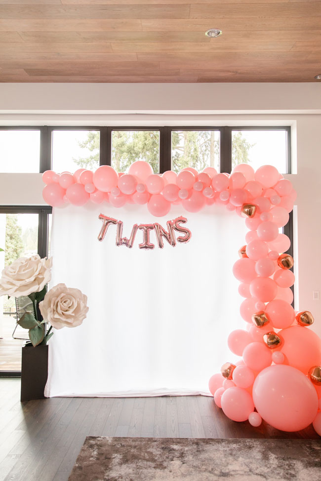 Bubbly Twin Baby Shower Photobooth