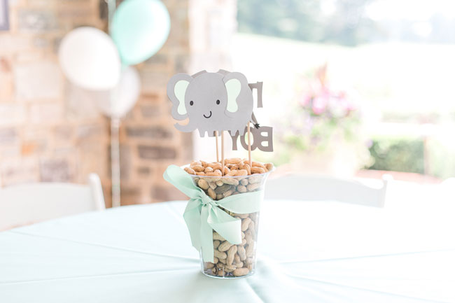 Whimsical Elephant Themed Baby Shower Centerpiece