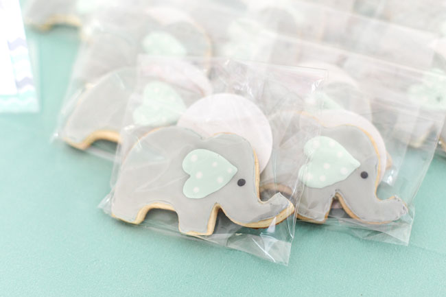 Whimsical Elephant Themed Baby Shower Cookies
