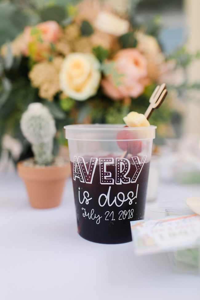 Taco TWOsday Birthday Fiesta Personalized Party Cups