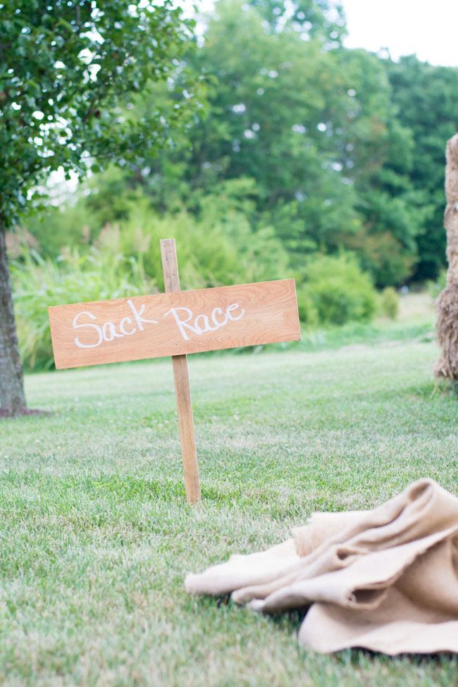 Whimsical Kids Garden Party Sack Race