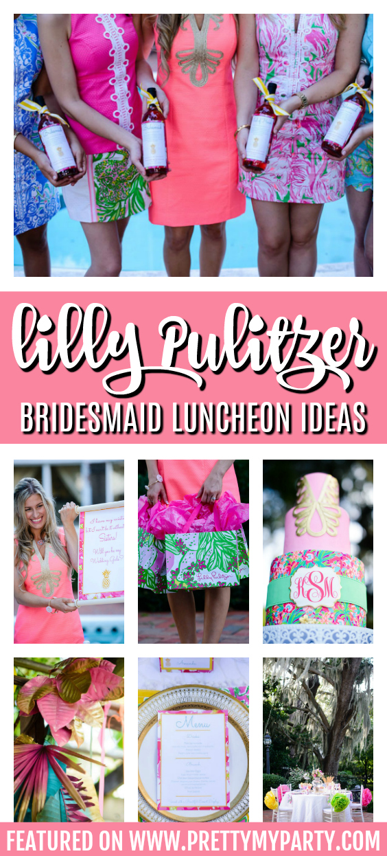 Lilly Pulitzer Inspired Bridesmaid Luncheon on Pretty My Party