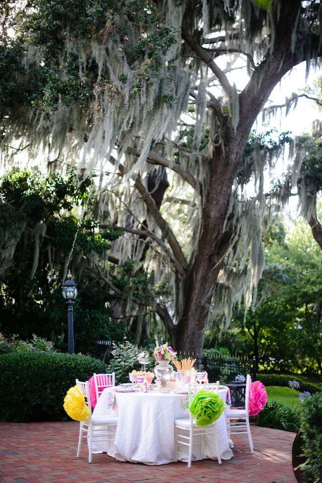 Lilly Pulitzer Theme Bridesmaid Luncheon Table