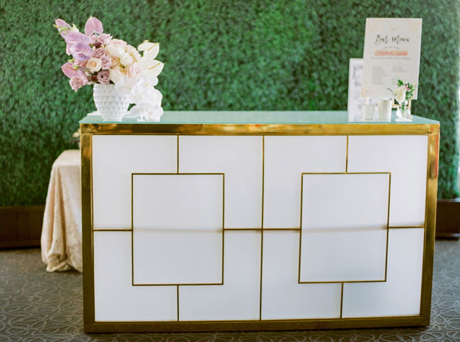 Bright Modern Bridal Shower Bar