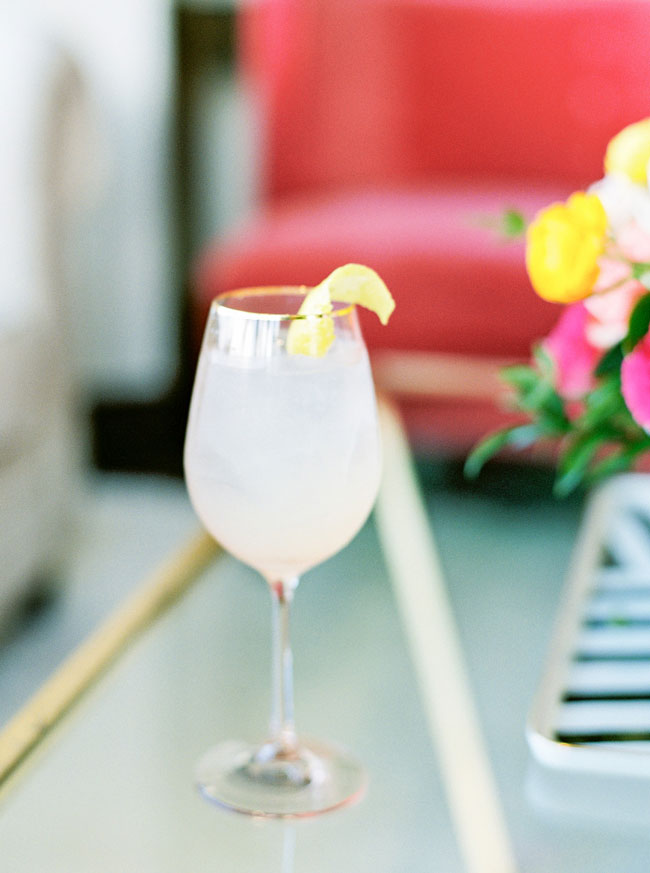Bright Modern Bridal Shower Drink