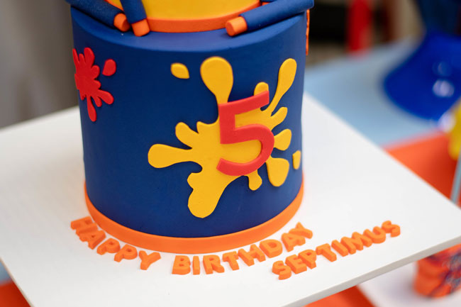 Nerf 5th Birthday Cake
