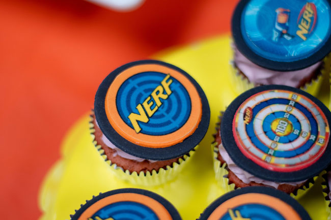 Nerf Cupcake Toppers