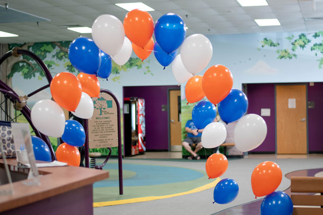 Nerf Themed Birthday Party Balloon Arch