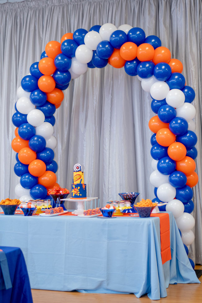 Nerf Themed Birthday Party