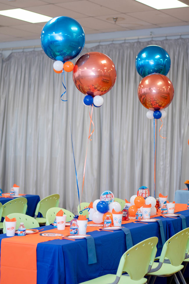 Nerf Themed Birthday Party Table