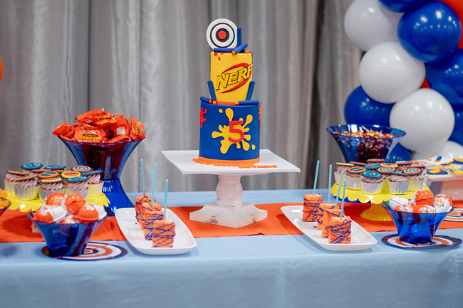 Nerf Themed Birthday Party Desserts