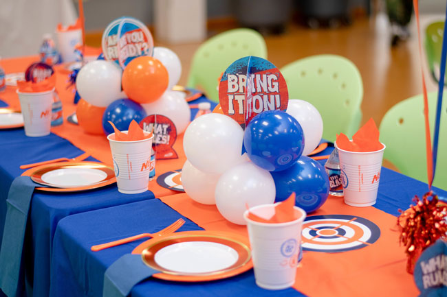 Nerf Themed Birthday Party Table Decor