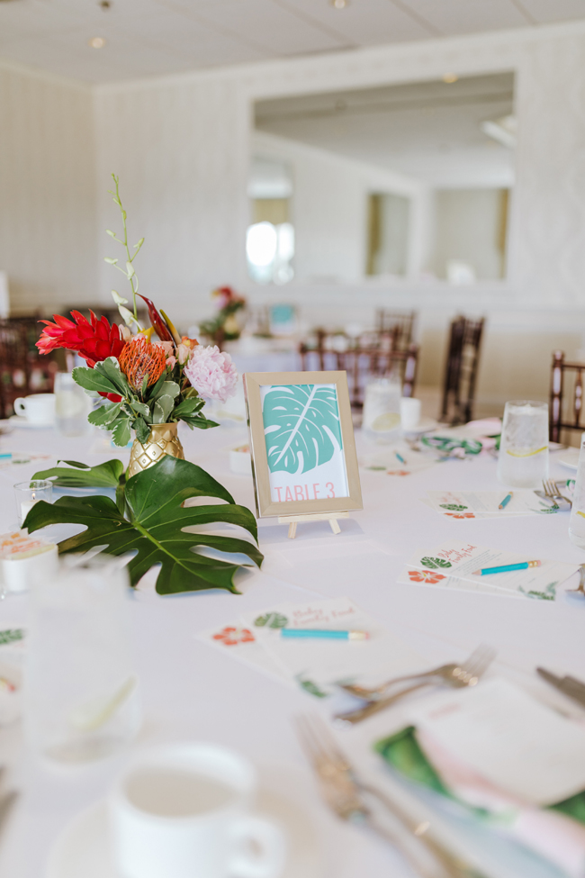 Tropical Aloha Baby Shower Table Centerpieces