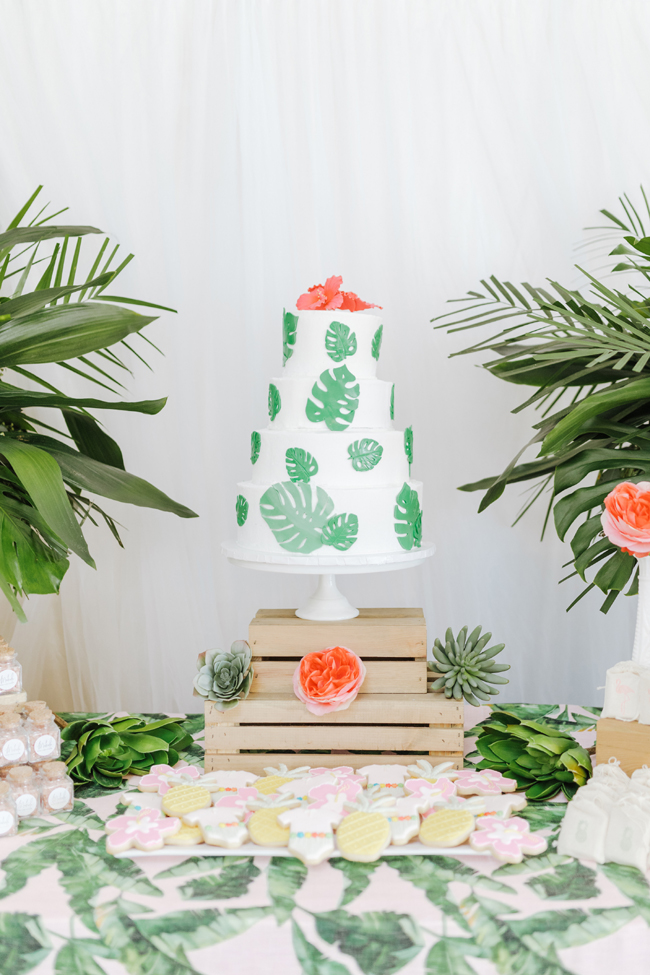 Tropical Aloha Baby Shower Cake