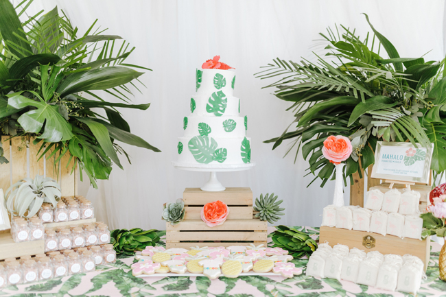 Tropical Aloha Baby Shower Dessert Table