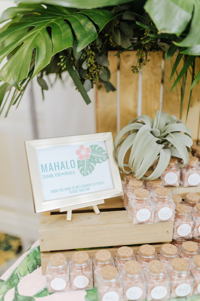 Tropical Aloha Baby Shower Favors