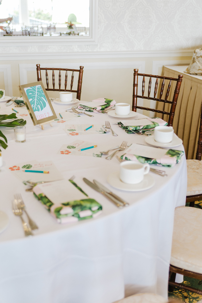 Tropical Aloha Baby Shower Table