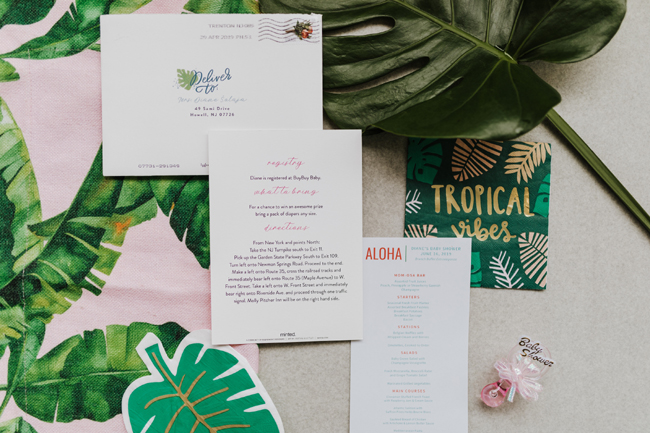 Tropical Aloha Baby Shower Stationary