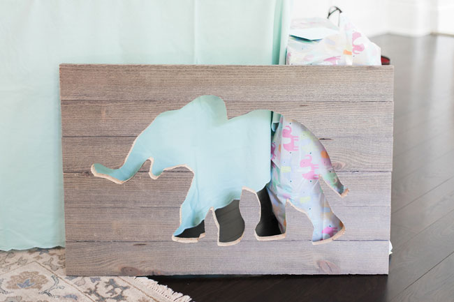 Whimsical Elephant Themed Baby Shower Wall Art