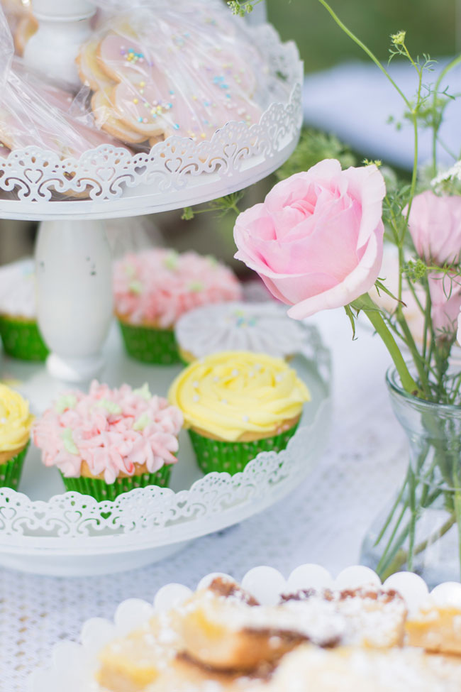 Garden Party Cupcakes and Cookies