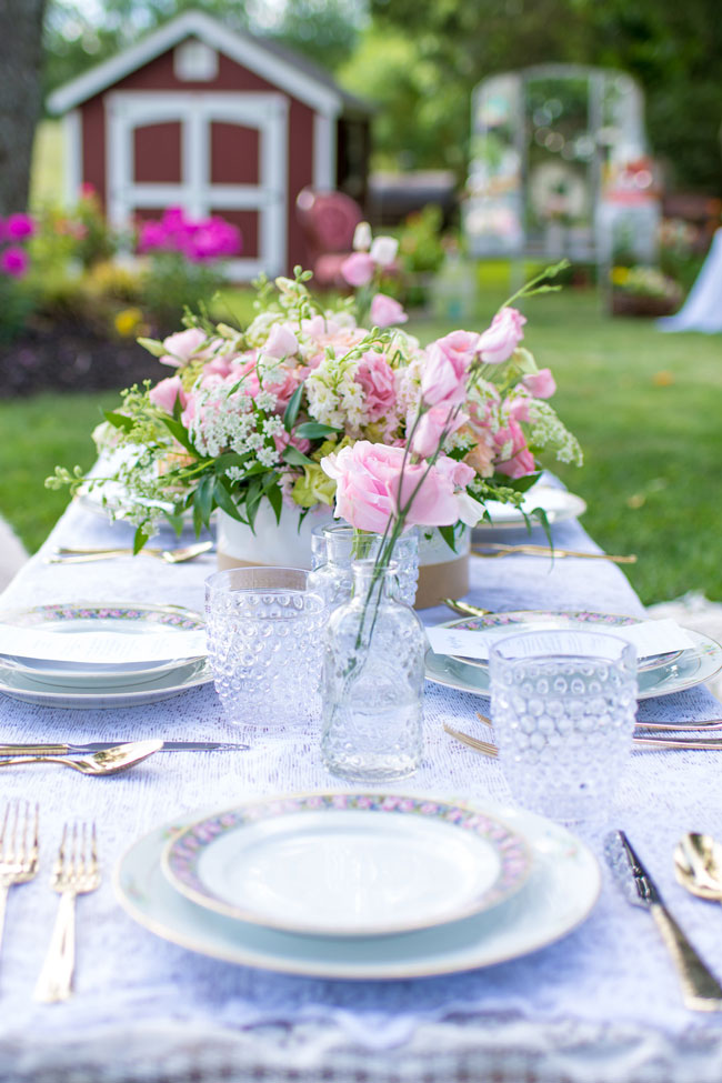 Whimsical Kids Garden Party Table