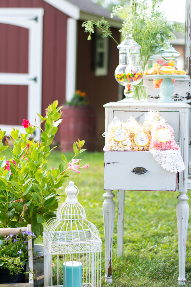 Whimsical Kids Garden Party Popcorn Favors