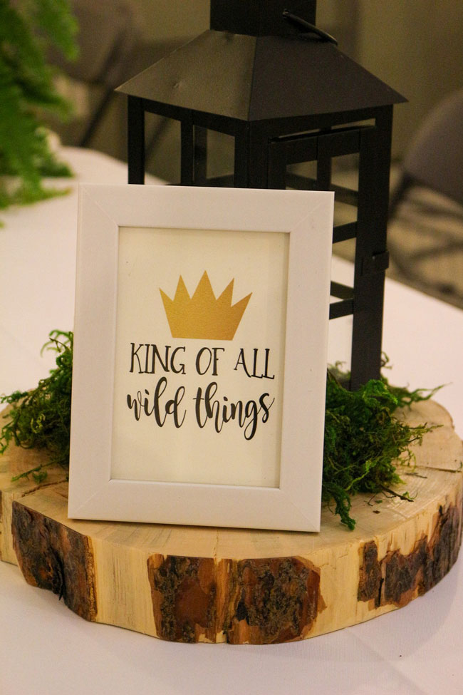 Where The Wild Things Are Birthday Party King of All Wild Things Sign