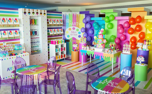 Colorful Art Themed 10th Birthday Party