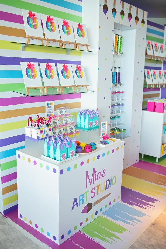 Colorful Art Themed Birthday Party Ideas