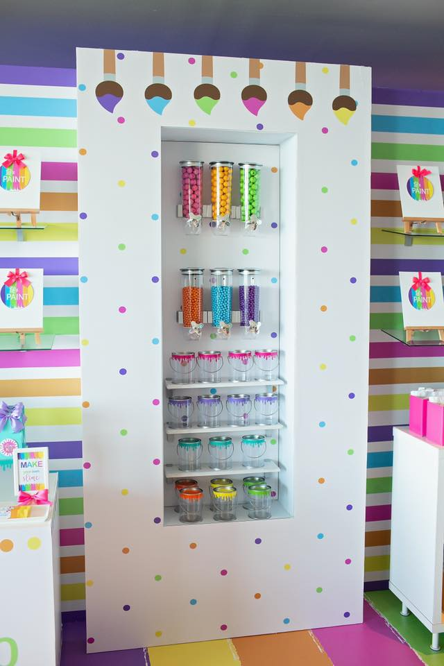 Art Party Candy Wall