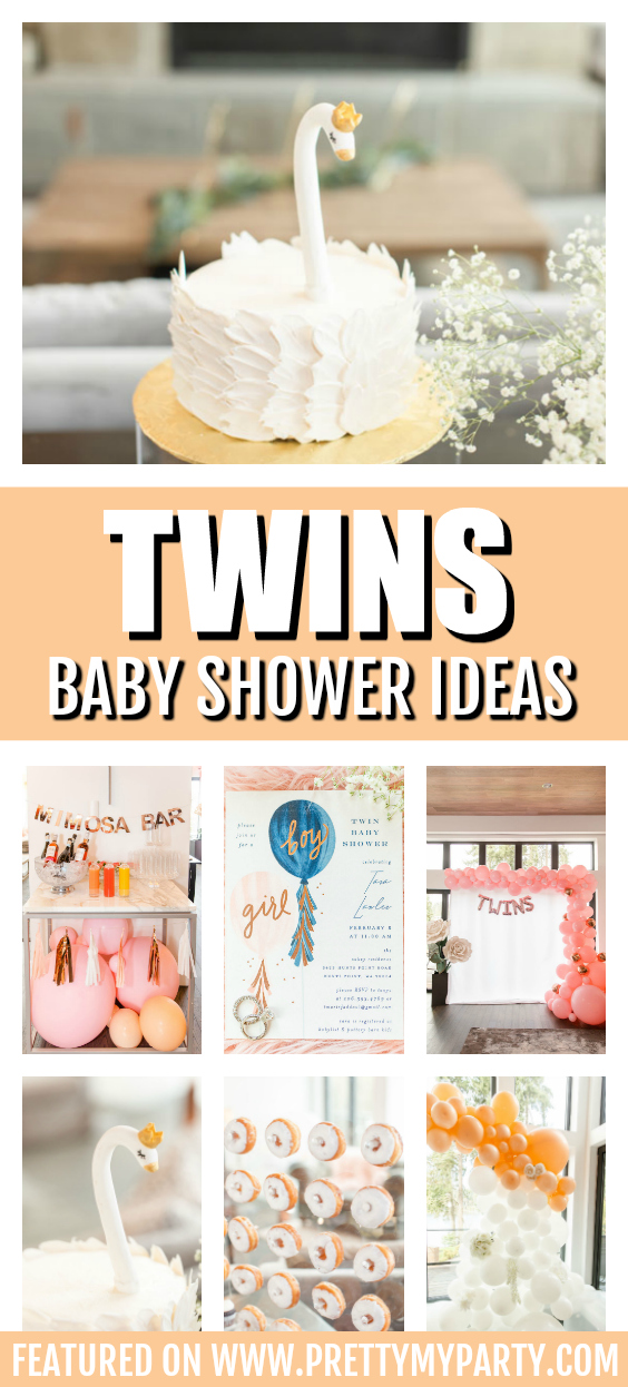 Bubbly Twin Baby Shower on Pretty My Party