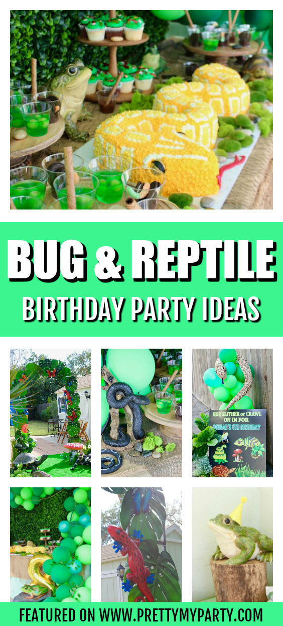 Bug and Reptile Themed Birthday Party on Pretty My Party